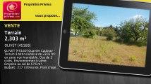 A vendre - terrain - OLIVET (45160) - 2 303m²