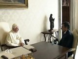 Benedict  XVI receives in audience the French Prime Minister