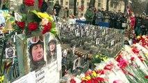 Maïdan : commémorations à Kiev