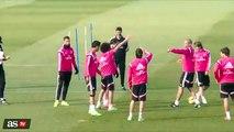 Gareth Bale fail in Real Madrid training 2015