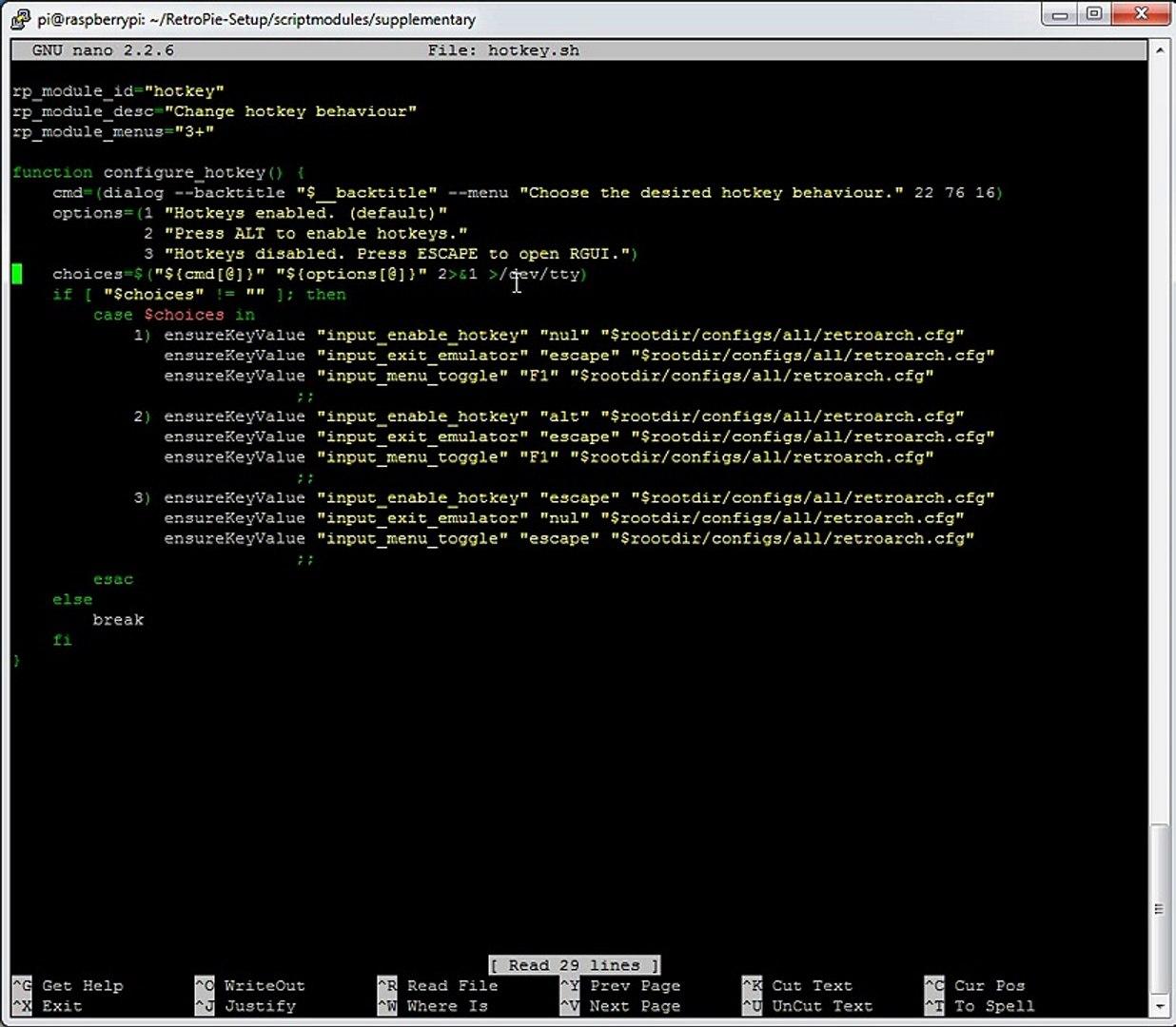 RetroPie - Hotkeys in retroarch emulator