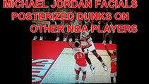 MICHAEL JORDAN POSTERIZED DUNKS ON NBA PLAYERS