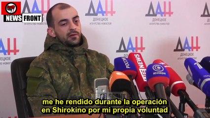 """Rueda de prensa prisionero batallon """"Azov"""" (Sub.Castellano)"""