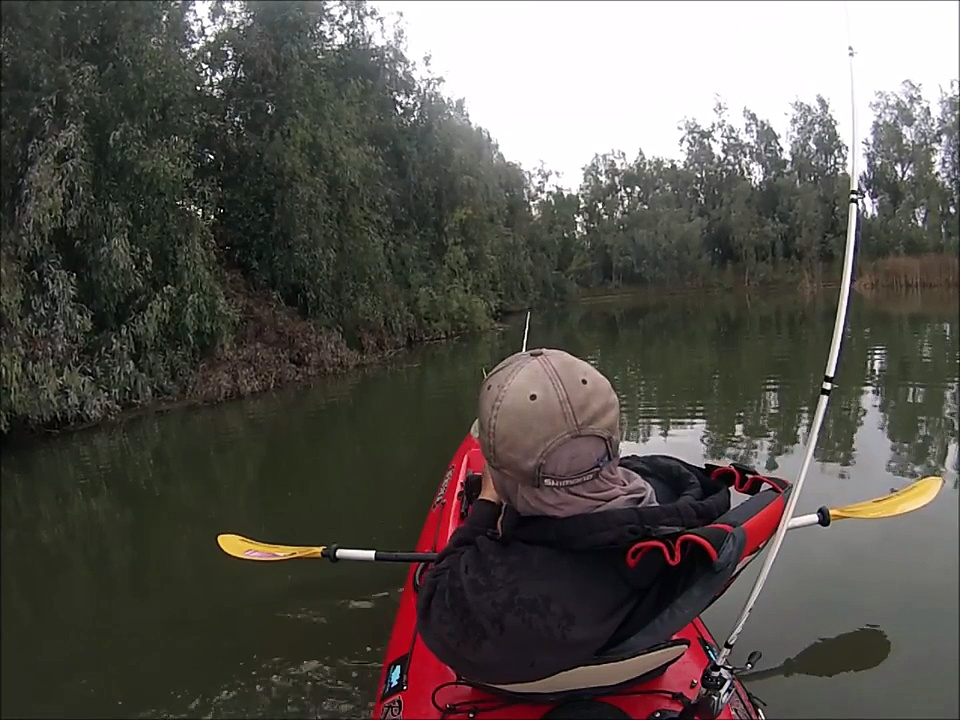 Bass Fishing in the Rain