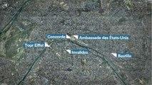 Cinq drones ont survolé différents sites parisiens
