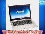 ASUS VD-R4010P Ordinateur Portable 13.3  Intel 256 Go Intel NVIDIA NVIDIA GeForce GT 620M Windows