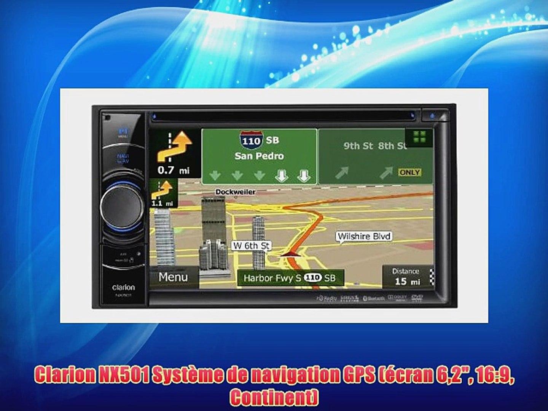 Clarion NX501 Syst?me de navigation GPS (?cran 62 16:9 Continent)