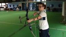 Anne-Sophie Tabard, vice-championne de France de tir à l'arc
