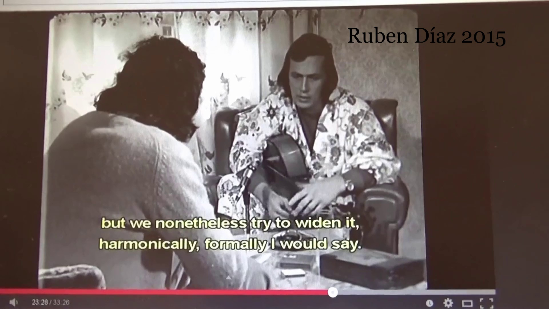 Paco advocate improvisation as THE path to be followed in new flamenco (Homage to Paco de Lucia 2) Ruben Diaz / Definition and Re-definition of Modern Flamenco / Definicion de Flamenco
