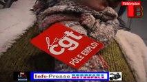 Télévision-Bordeaux-33 occupation de la dra de pôle emploi par les chômeurs et intermittents précaires.