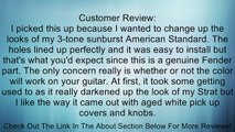 Fender Standard Stratocaster Pickguard, 11-hole For 3 single coil pickups, Black Review