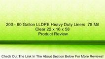200//Carton Natural 56 Gallons 43 x 48 H4348S 16 Microns Jaguar Plastics Super Extra-Heavy Liners