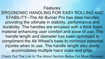 The Top Fit Ab Roller Is Superior For Burning Abdominal Fat & Strengthening Core Abdominal Muscles-This Double Ab Wheel System Rapidly Burns Abdominal Fat, Tones Shoulders & Arms. Comes With Floor Mat To Help Support Knees When Rolling. Also Includes FREE