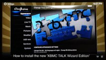How to install The 'XBMC TALK WIZARD EDITION' to your XBMC