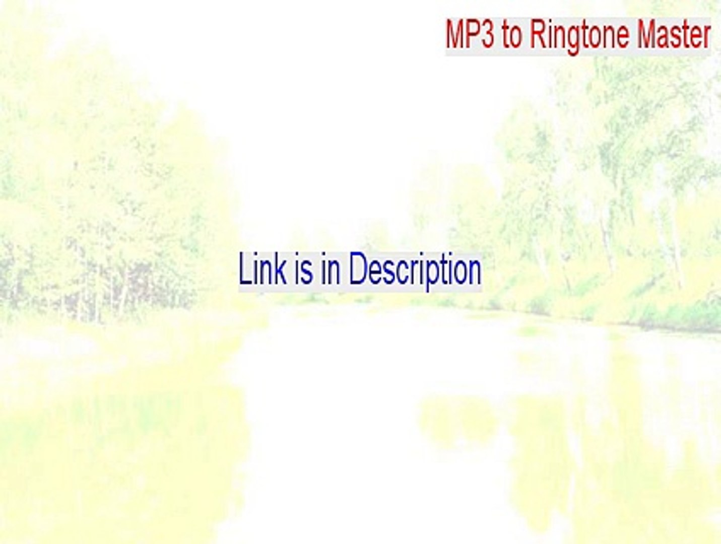 MP3 to Ringtone Master Crack (mp3 to ringtone master serial 2015)