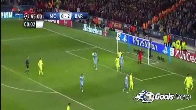 ملخص مباراة برشلونة ومانشستر سيتي 2-1 كامل تعليق حفيظ دراجي HD