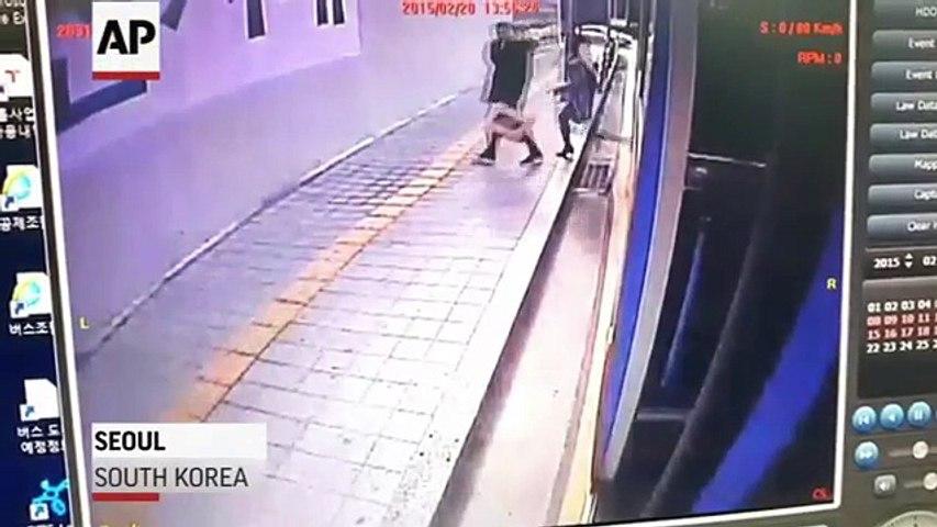 Attention aux trottoirs à Séoul