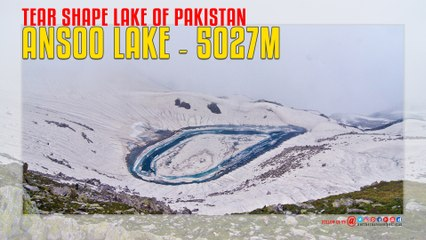 Tear Shape Lake Of Pakistan - Ansoo Lake - Kaghan Valley.