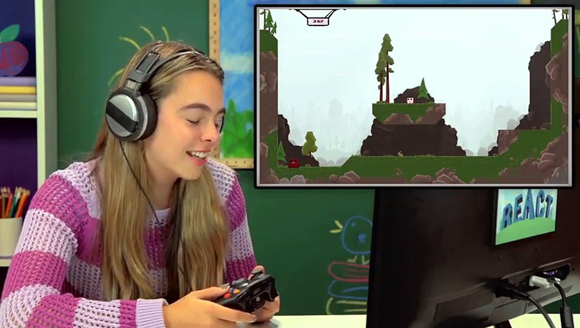 KIDS PLAY SUPER MEAT BOY (Kids React  Gaming)