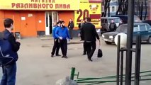 STREET FIGHTING - one russian vs three chechens