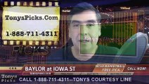 Iowa St Cyclones vs. Baylor Bears Free Pick Prediction NCAA College Basketball Odds Preview 2-25-2015