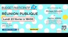 Réunion Budget Participatif du 23 Février 2015