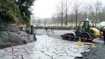 Inondations 2013: la grotte de Lourdes en cours de réaménagement