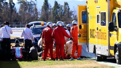 Alonso returns home after testing crash