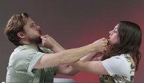 Parejas recrean famosas escenas de besos de películas