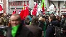 Manifestations contre les exclusions du chômage