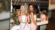 Alessandra Ambrosio And Elsa Hosk Promote The Victoria's Secret Sexiest Push Up