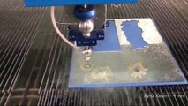 With a waterjet cutting machine, mirror cutting video