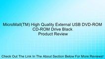 MicroMall(TM) High Quality External USB DVD-ROM CD-ROM Drive Black Review