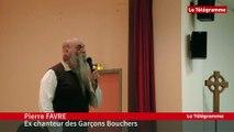 Douarnenez Pierre FAVRE (ex chanteur des Garçons Bouchers) au Lycée St Blaise