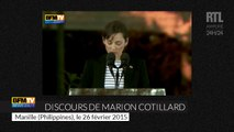 Les discours de Marion Cotillard et Mélanie Laurent en faveur de l'environnement