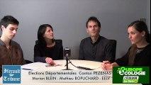 PEZENAS - 2015 - DEPARTEMENTALES - L'interview de  la LISTE ECOLOGISTES CITOYENS et SOLIDAIRES du CANTON de PEZENAS .