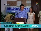 """Colombia peace talks focus on """"transitional justice"""""""