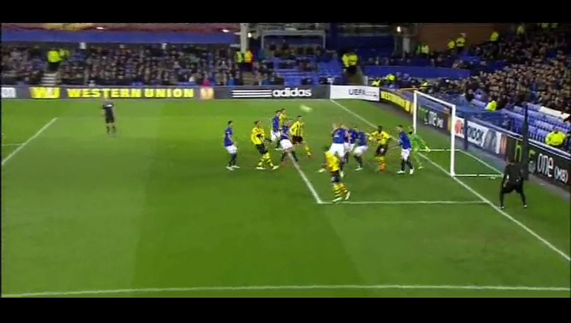 Goal Sanogo - Everton 0-1 Young Boys - 26-02-2015