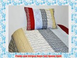 Plaids and Stripes Boys Full/Queen Quilt