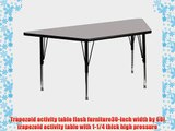 Flash Furniture XU-A3060-TRAP-GY-H-P-GGTrapezoid Activity Table with High Pressure Grey Laminate