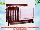 Kidsline Little Boutique Nursery Collection 8 Piece Crib Bedding Set - Pink / Blue (Pink)