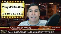 Indiana Pacers vs. Cleveland Cavaliers Free Pick Prediction NBA Pro Basketball Odds Preview 2-27-2015