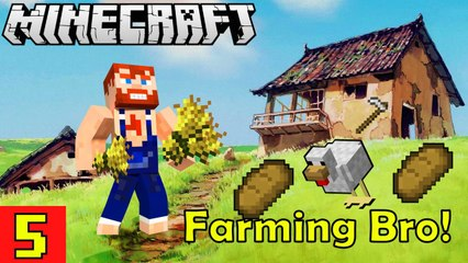 Early stage of Farming Nik Nikam's EPIC Minecraft Modded Survival Ep 5