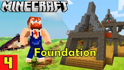 HOUSE FOUNDATION Nik Nikam's EPIC Minecraft Modded Survival Ep 4