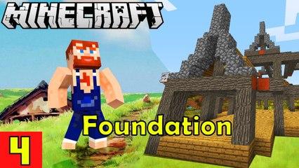 HOUSE FOUNDATION Nik Nikam's EPIC Minecraft Modded Survival Ep 4