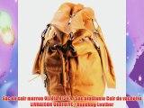 Sac en cuir marron OLIVIA N1397 Sac etudiante Cuir de vachette LIVRAISON GRATUITE Handbag Leather