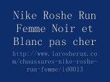 2015 Nike Roshe Run Femme Noir et Blanc pas cher