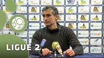 Conférence de presse US Créteil-Lusitanos - Dijon FCO (0-2) : Thierry FROGER (USCL) - Olivier DALL'OGLIO (DFCO) - 2014/2015