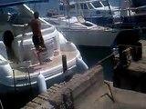 Boat Owner Pranks Sun Bathers