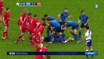 L'équipe de France dominée par le Pays-de-Galles